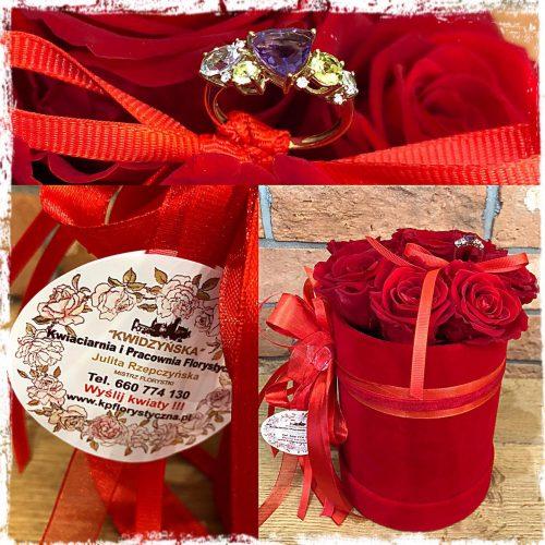 box - wieczne róże na zaręczyny