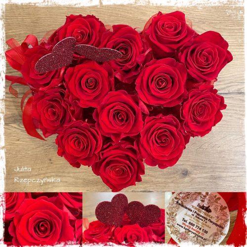 box wieczne róże -serce1