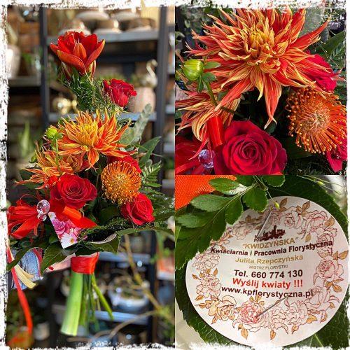 bukiet mieszanych kwiatów