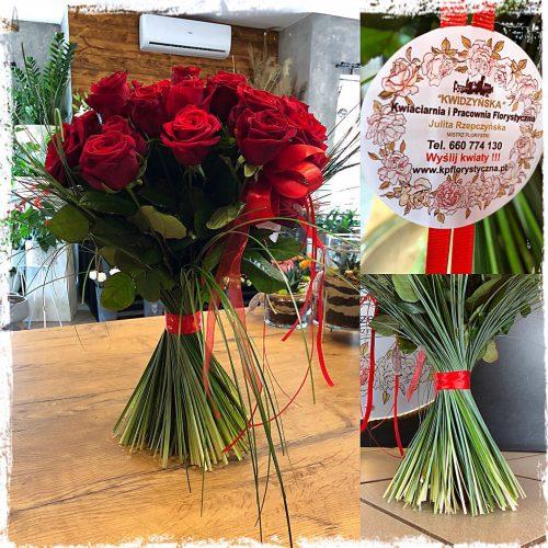klasyczny bukiet czerwonych róż2