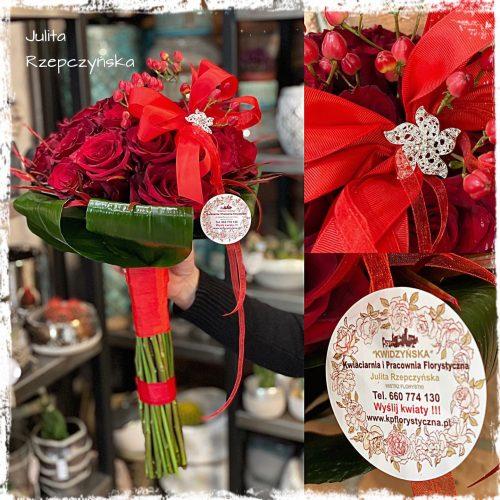 klasyczny bukiet czerwonych róż5