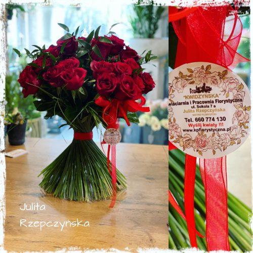 klasyczny bukiet czerwonych róż7