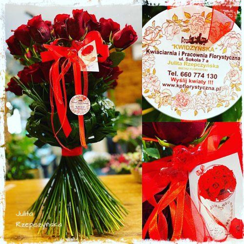 klasyczny bukiet długich róż1