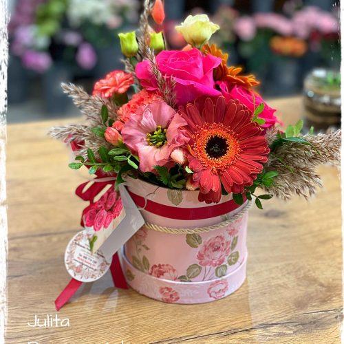 mini box- mieszane kwiaty