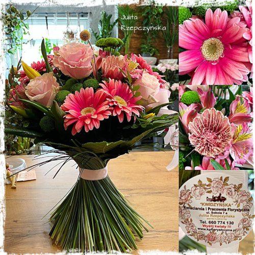 naturalny bukiet kwiatów4